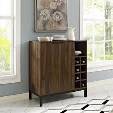 modern home bar furniture. Walker Edison Bar Cabinet With Wine Storage - Dark Walnut Modern Home Furniture