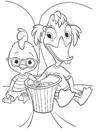 Small Picture Father Care With Chicken Little Coloring Page Chicken Little
