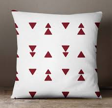 maroon decorative pillows. Fine Decorative S4SassyGeometricPrintSquarePillowCoverMaroonDecorative For Maroon Decorative Pillows O