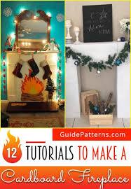 cardboard fireplace diy