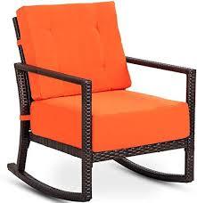 new tangkula rattan rocker chair