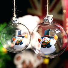 glass ornaments clear glass ball ornament snowman in blue hat wedding party bauble tree glass ornaments