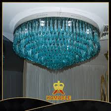 whole hand blown blue murano glass chihuly style modern chandeliers ka228