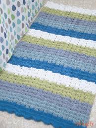 little waves crochet rug