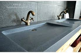bathroom sink skirt diy gray trough granite double sinks stone ice