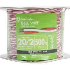 doorbell wire wire the home depot Basic Home Doorbell Wiring red white 20 2 twisted bell wire basic home doorbell wiring