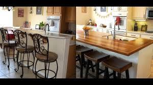 diy kitchen island remodel with butcher block