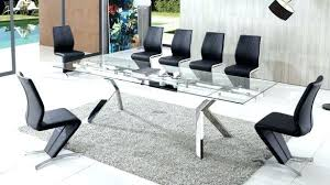 modern glass dining table and leather chairs set top sets modern glass dining table s caesar set with 6 seater