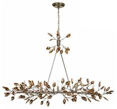 misthaven chandelier silver leaf with antique gold paint champagne crystals