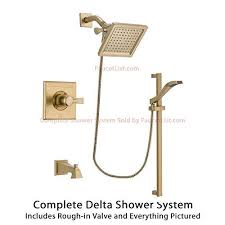 delta shower door reviews best review delta dryden champagne bronze finish tub and shower faucet pictures