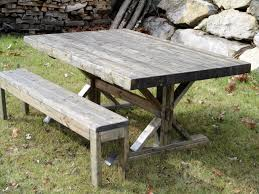 rustic farmhouse trestle thick butcher block style dining table