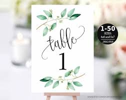 Table Number Design Table Number Template Table Numbers Printable Table