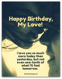 Happy Birthday Love Quotes Custom Romantic Birthday Wishes Birthday Messages For Lovers