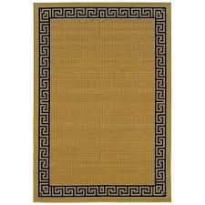 black tan outdoor rug key borders beige indoor area polypropylene x tan outdoor rug with black