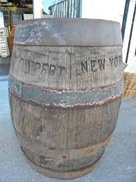 rare mid 1800s vintage antique jacob ruppert wooden beer keg barrel