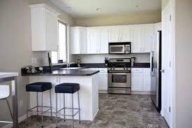 tile kitchen countertops white cabinets. Black Vinyl Floor Tile And Countertops With White Cabinets Kitchen