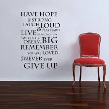 Wall Sticker Quotes Classy Inspirational Have Hope Wall Art Quote Stickers Vinyl Decal