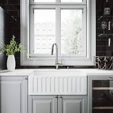 Vigo 30 Inch Farmhouse Apron Single Bowl Matte Stone Kitchen Sink