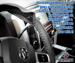 2009 2016 dodge ram 1500 leather steering wheel cover driver black