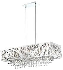 pottery barn rectangular extra long crystal chandelier with shade chande chair pretty rectangular crystal chandelier modern rectangle