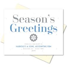 Buisness Greeting Cards Business Holiday Greetings Cards On Seeded Paper Organic Greetings