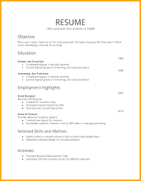 Resume Examples For First Job Impressive Student Part Time Job Resume Template Sample For High School With No