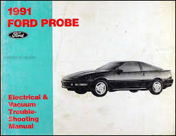 1991 ford probe factory foldout wiring diagram original 1991 ford probe electrical vacuum troubleshooting manual original