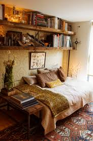 hipster room ideas for small rooms. idea for spare room -- move twin bed in there once we obtain another queen size guestroom, and use it as a daybed with shelving above. hipster ideas small rooms