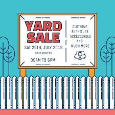 furniture sale sign. Yard Sale Sign Vector Furniture