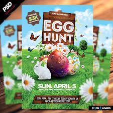 Easter Egg Hunt Flyer Template Dope Doanloads