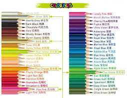 Staedtler Colored Pencils 48 Color Chart Some Summer Reviews Archive Wetcanvas