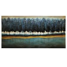 transitional style blue forest wall art on transitional style wall art with transitional style blue forest wall art shop for affordable home