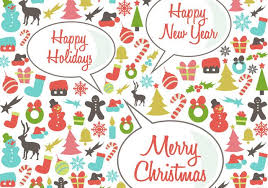 Retro Holidays Retro Happy Holidays Vector Background Download Free Vector Art
