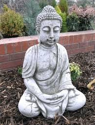 small image of extra large stone buddha garden ornament bd29