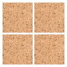pinboard self adhesive cork wall tiles code p753172 9 99