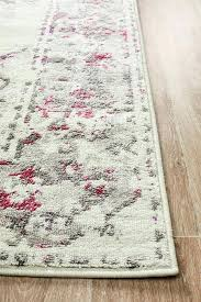 pink gray rug transitional white grey blue