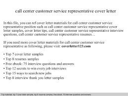 Sample Cover Letter Customer Service Call Center Chechucontreras Com