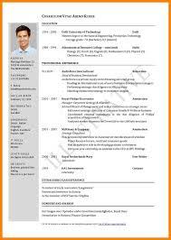 Curriculum Vitae Examples Inspiration Cv Examples Pdf Format Curriculum Vitae Samples Pdf Curriculum