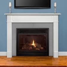 pearl mantels 520 48 48 inch wide berkley mdf fireplace mantel in white finish