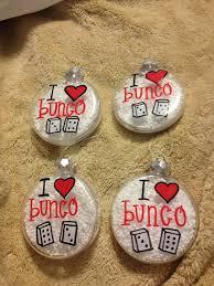 i love bunco ornaments