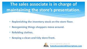 sales associate job description      the  s associate