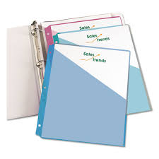 Avery Binder Pockets 3 Hole Punched 9 1 4 X 11 Clear 5