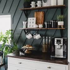 This repurposed buffet is so roomy, and very versatile. A Modern Diy Coffee Station For The Home Love Create Celebrate