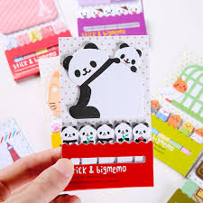 Animal Panda Cage Cute Kawaii Sticky Notes Post It Memo Pad School