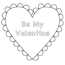 Small Picture Heart Be My Valentine Coloring Page Valentines Day