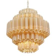 more views vittoria chandelier gold small