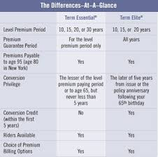 Term Insurance Premium Comparison Chart Prudential Life Insurance The Rock Of Newark The