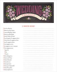 wedding planning checklist template sample wedding planning checklist 6 example format
