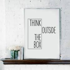 Wall decor office Simple Think Outside The Box Wall Art Canvas Painting Creative Print Home Office Decor Office Decor Ebay
