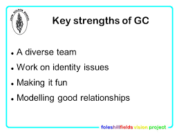 foleshillfields vision project john gulson primary school large 7 key strengths of gc a diverse team work on identity issues making it fun modelling good relationships